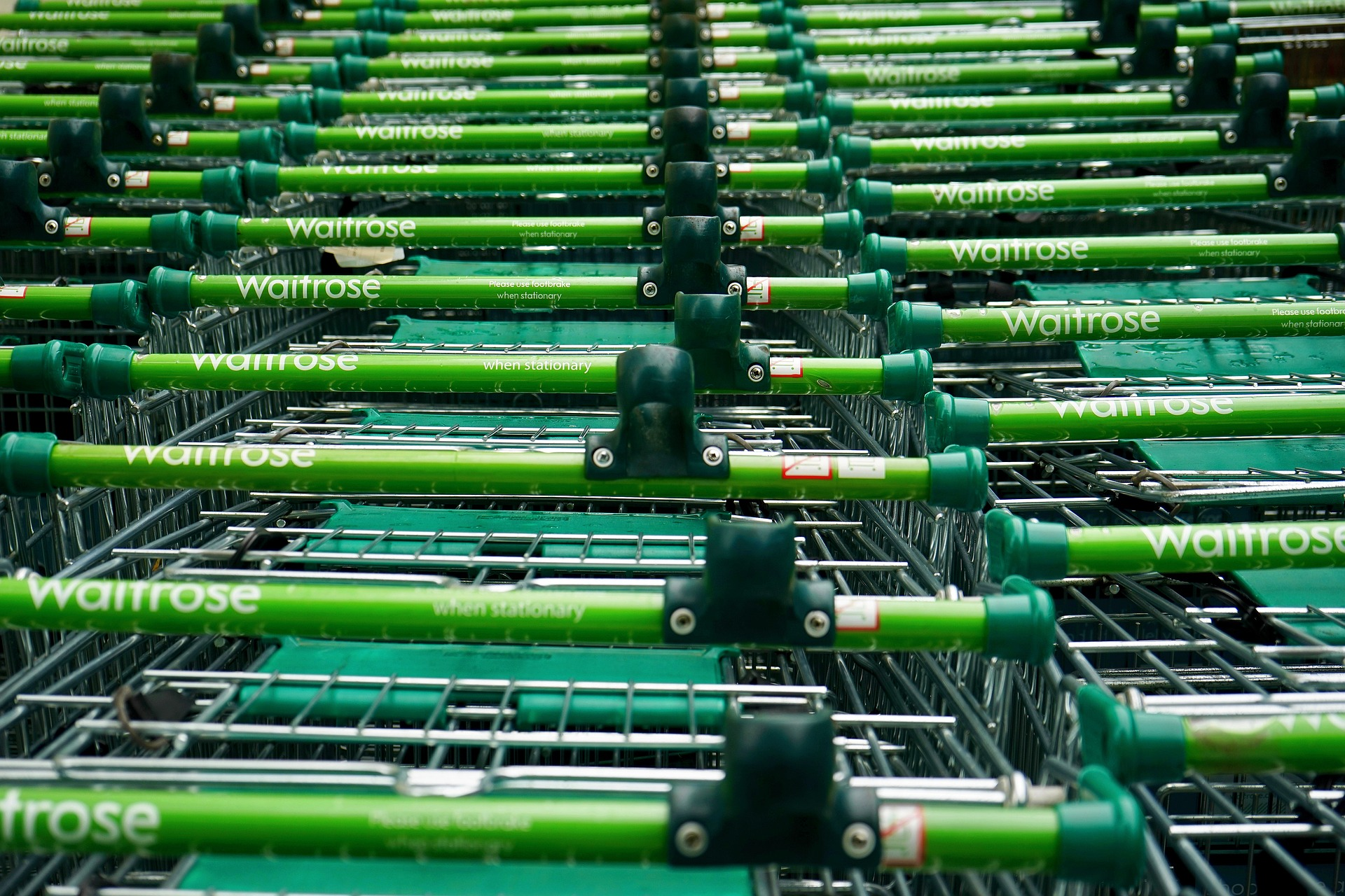 supermarket Waitrose trolley