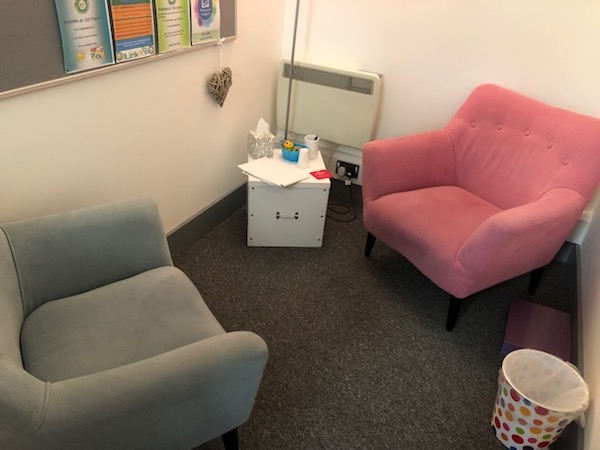 The Link Youth Service counselling room