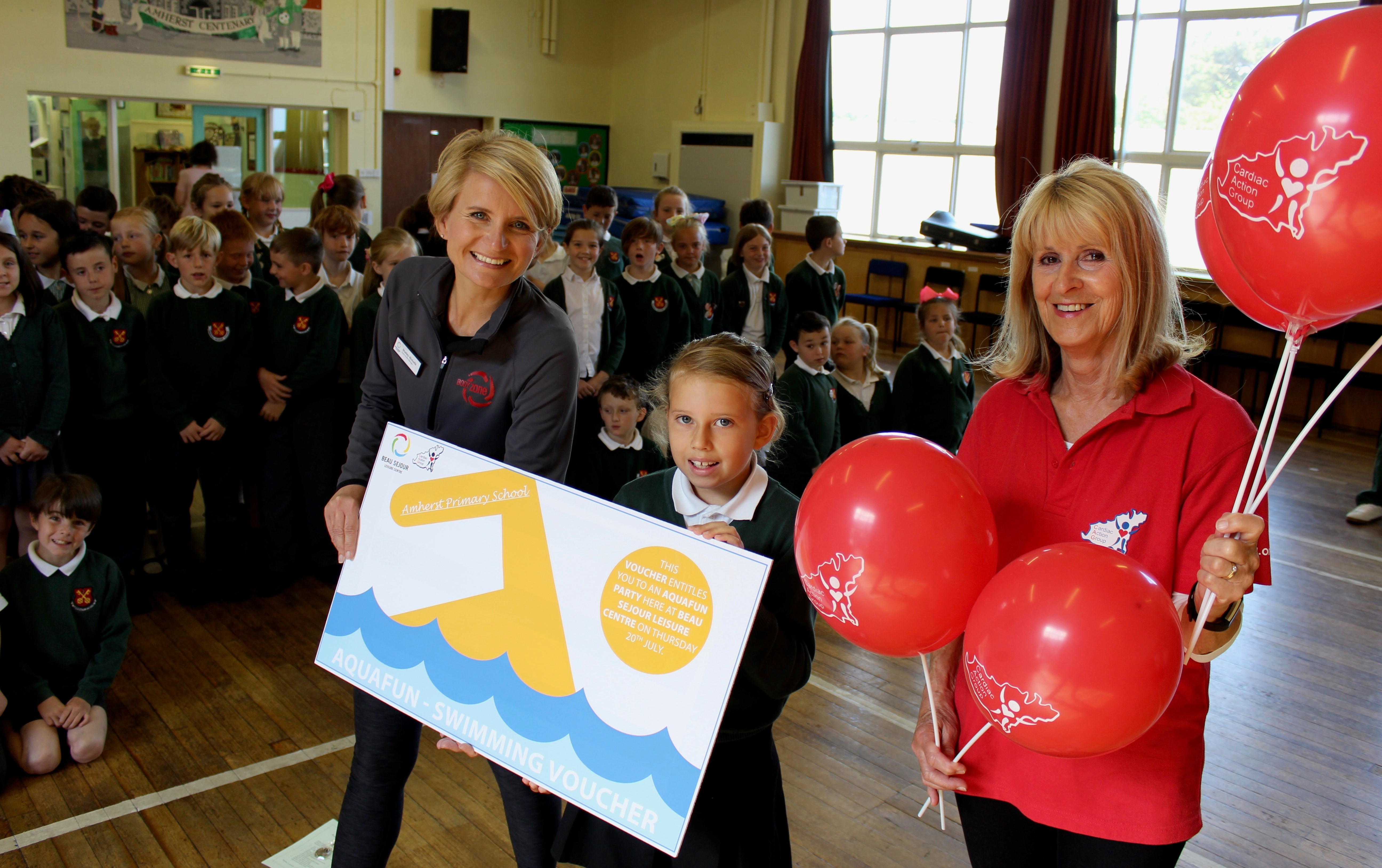 Healthy heart competition entry wins erin s school a pool - How soon can you swim after shocking pool ...