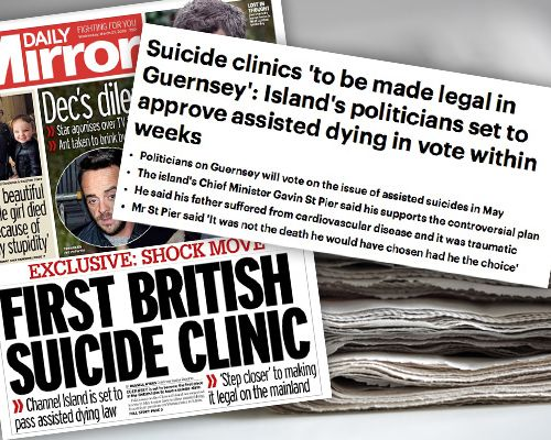 assisted dying suicide Guernsey media