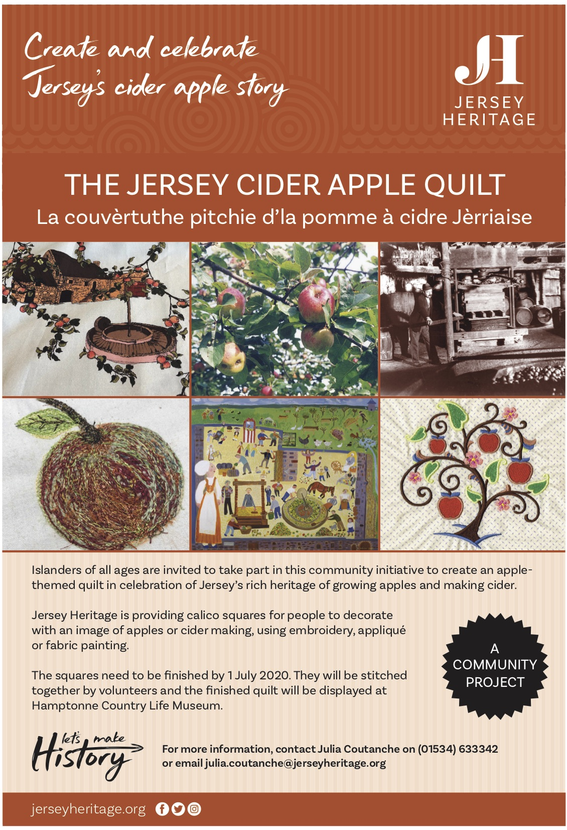 Sewing project celebrates bright cider island life