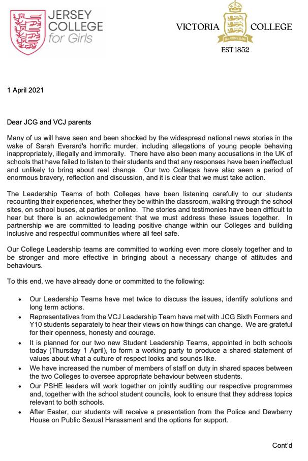 Letter JCG Vic