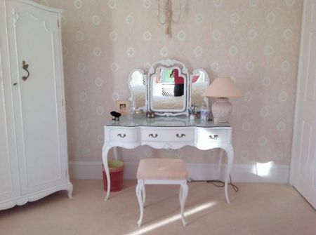 Hardwood French Furniture - Dressing Table, Headboard and Bedside Tables