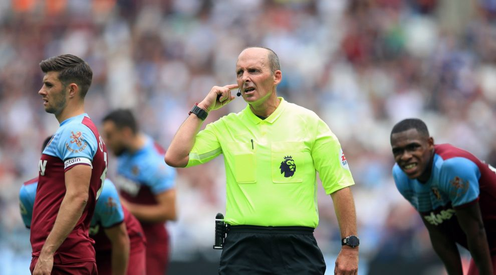 Referee Mike Dean entertains fans with dummy just minutes into 2019/20 season
