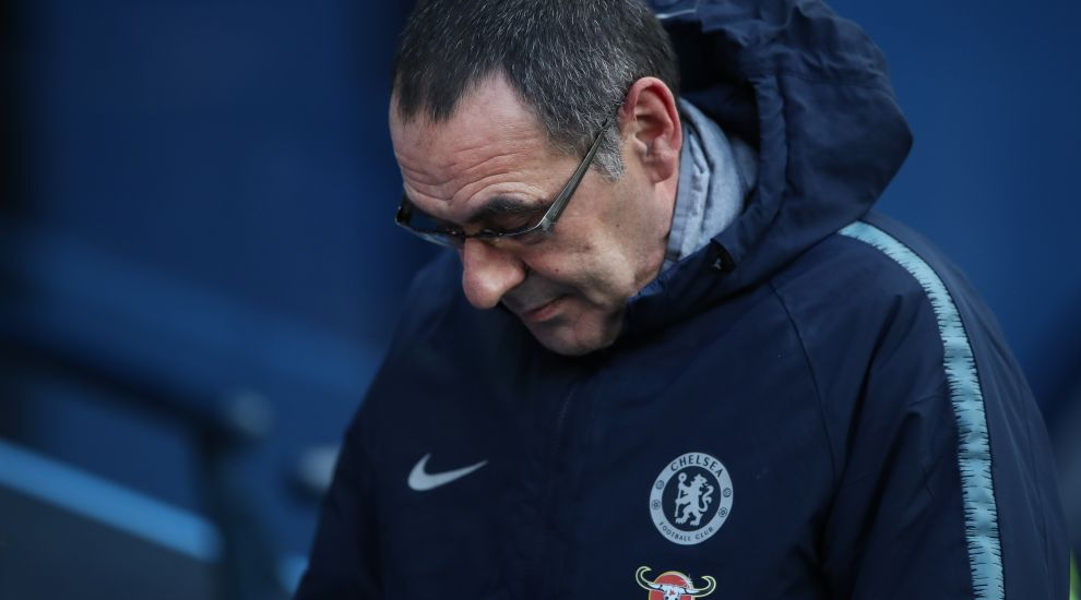 Sarri sent to the stands as Chelsea held by Burnley