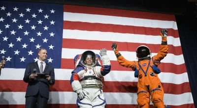 Nasa says new spacesuits for moonwalking will consign bunny hops to history