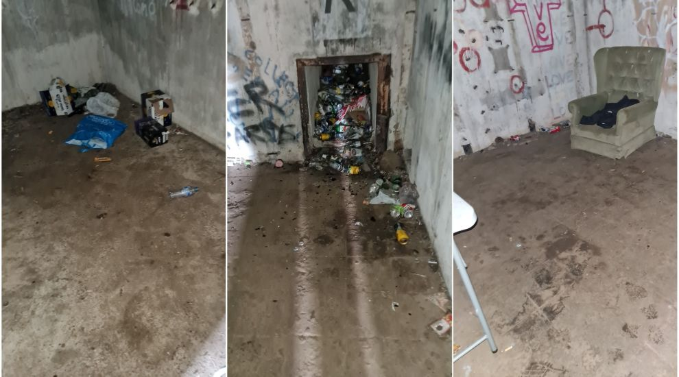 Bunker trashed after suspected New Year party