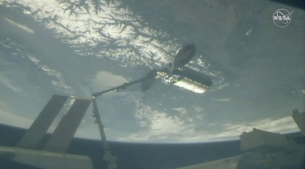 Private cargo ship delivers Easter feast to International Space Station