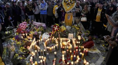 Kobe Bryant death: Vigils held as Los Angeles pays tribute to basketball hero