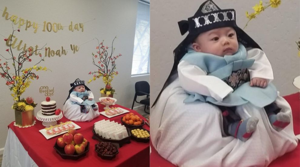 Baby melts hearts on social media as he celebrates 100 days of life