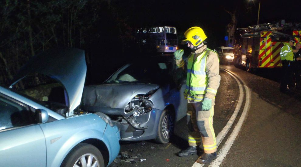 Two in hospital after head-on crash