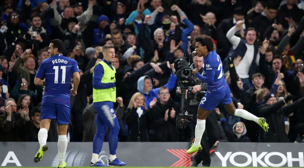 Willian wins it for Chelsea after Newcastle threaten comeback