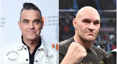 Robbie Williams gets festive with Tyson Fury for Christmas album