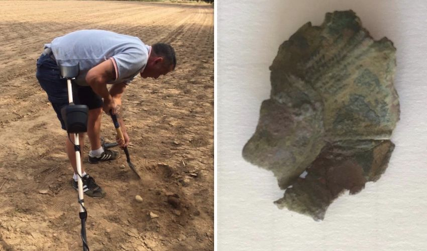 Detectorist makes 'belter' of a find on battle anniversary