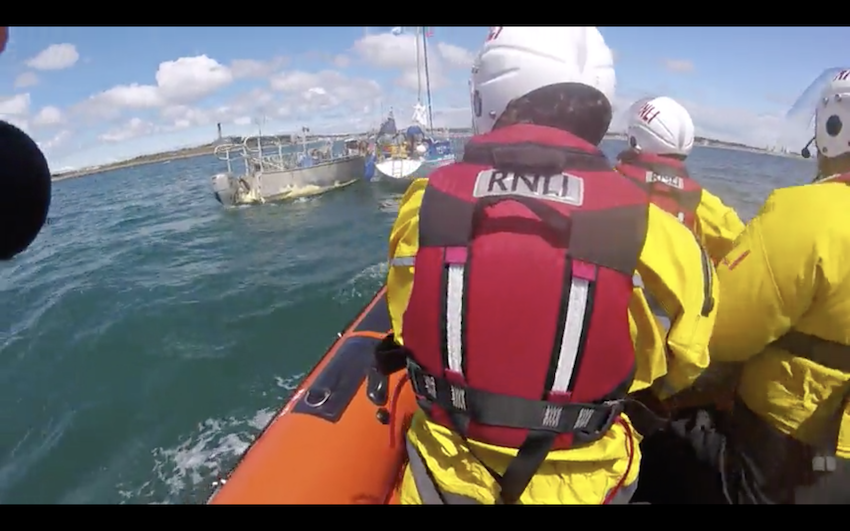 Dual rescue for semi-conscious yachtsman