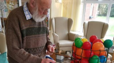 Care home recreates giant game of Kerplunk to lift morale in isolation