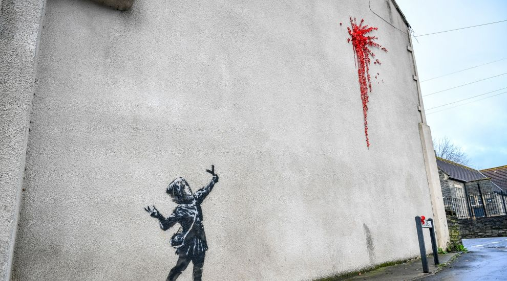 Banksy confirms Valentine's Day-inspired art in Bristol is his work