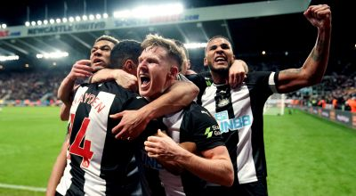 Corner flag hits fan in the groin amid frantic Newcastle celebrations