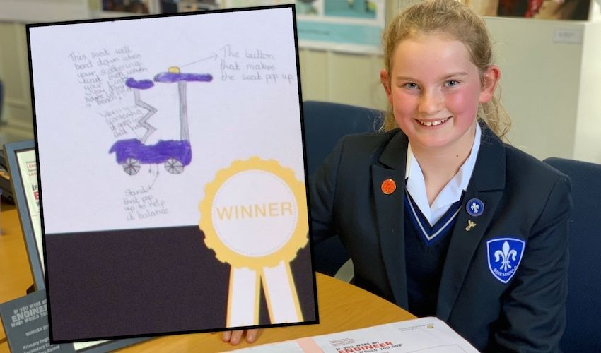 Young inventor's bright idea brought to life