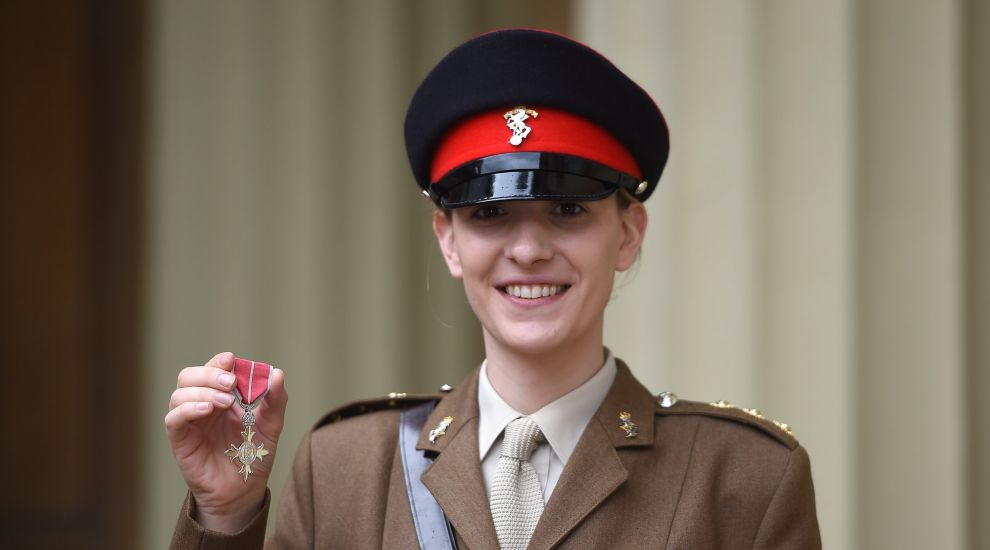 Highest-ranking transgender woman in the Army collects MBE at Buckingham Palace