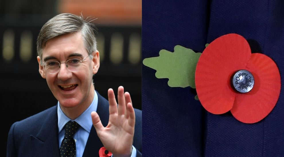 Jacob Rees-Mogg criticised over placement of poppy