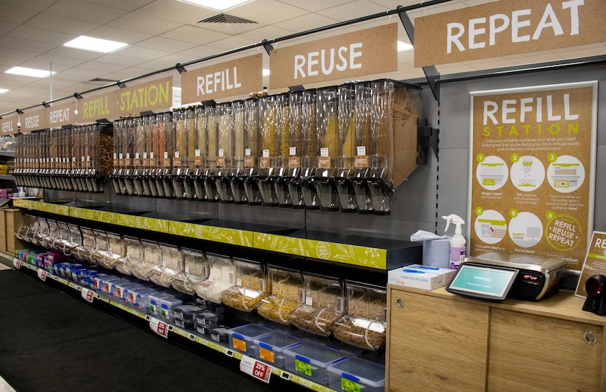 Supermarket launches refill station