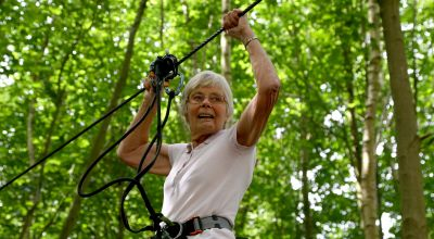 84-year-old becomes oldest woman to complete zip wire at Go Ape