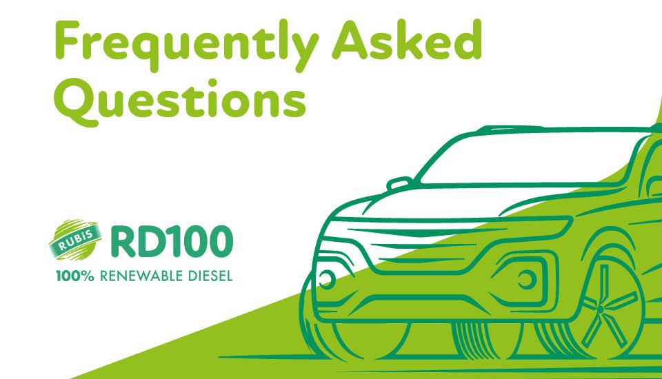 Got a question about the new Rubis RD100 Renewable Diesel? Here are some FAQs.