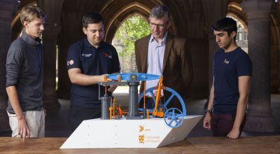Student team creates 3D-printed model of James Watt steam engine
