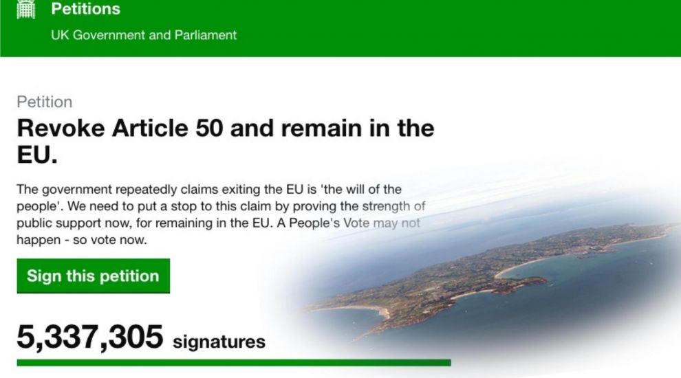 Island support for anti-Brexit petition
