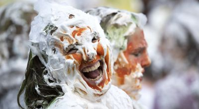 In pictures: Students take part in annual foam fight