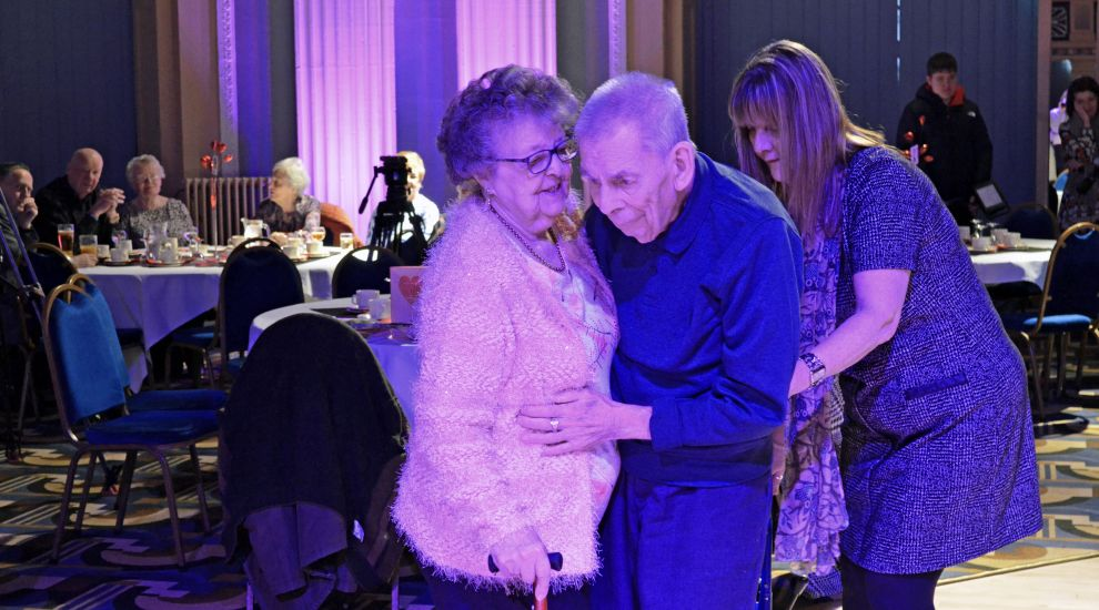 Care home resident recreates first date with wife nearly 68 years later
