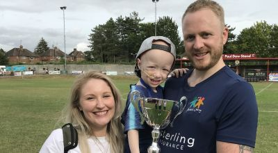 Celebrity soccer match raises funds to help three-year-old Archie beat cancer