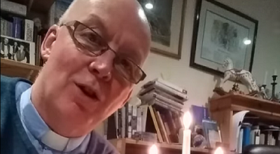 Vicar sets arm on fire during first 'virtual' service