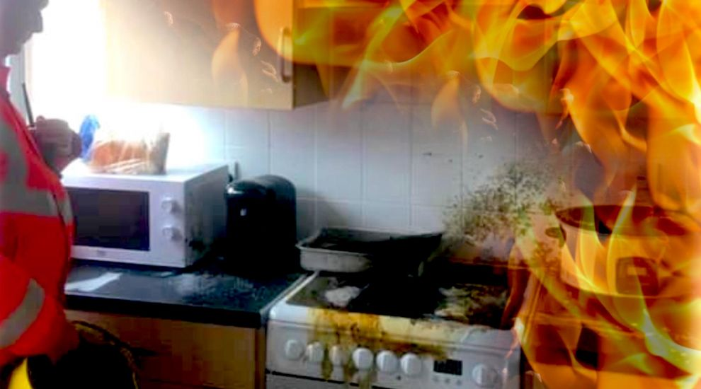 Melted chopping board causes kitchen blaze