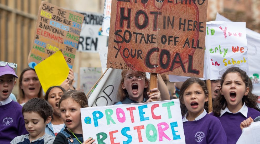Children take to streets across UK for global climate strike