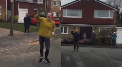 Cheshire residents of all ages hold dance party from their doorsteps