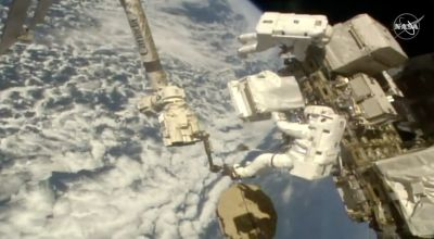 Nobel laureates get to chat with astronauts during space station call