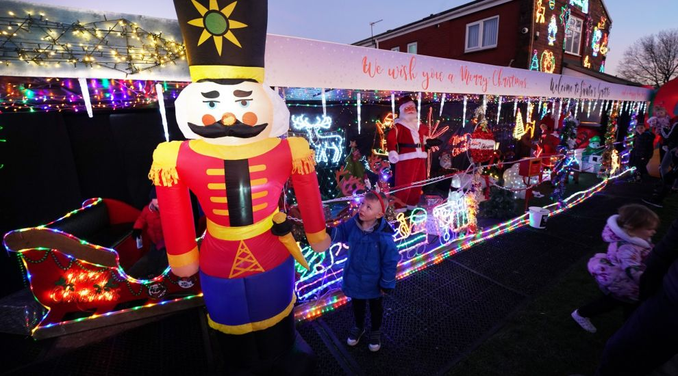 Grandfather's festive display in garden lights up South Shields