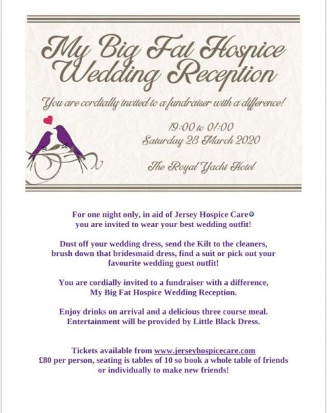 POSTPONED: My Big Fat Hospice Wedding Reception
