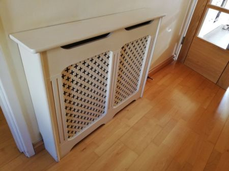 3 wooden radiator covers in immaculate condition. Selling due to refurbishment of house. £35 each.