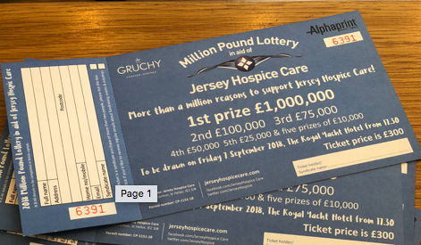 Million Pound Lottery tickets down to their last 1,000
