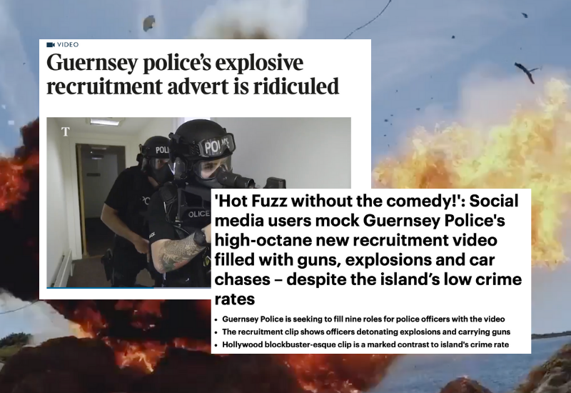 Guernsey Police ridiculed over 'Hot Fuzz' recruitment video