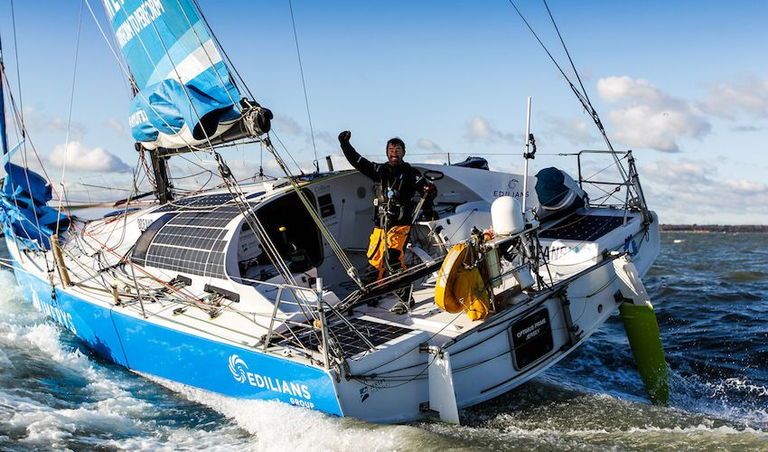 Jersey sailor sets new world record