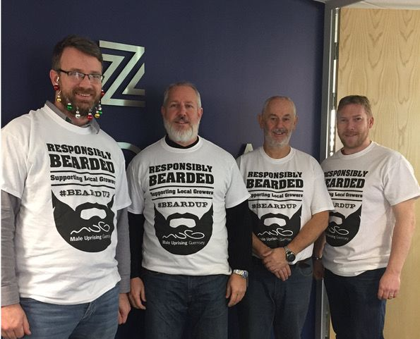 ZEDRA Guernsey staff grow beards for charity