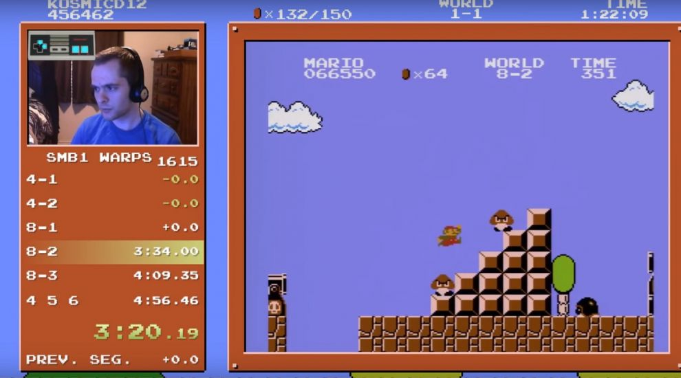 This guy just completed the fastest Super Mario Bros. speedrun of all time