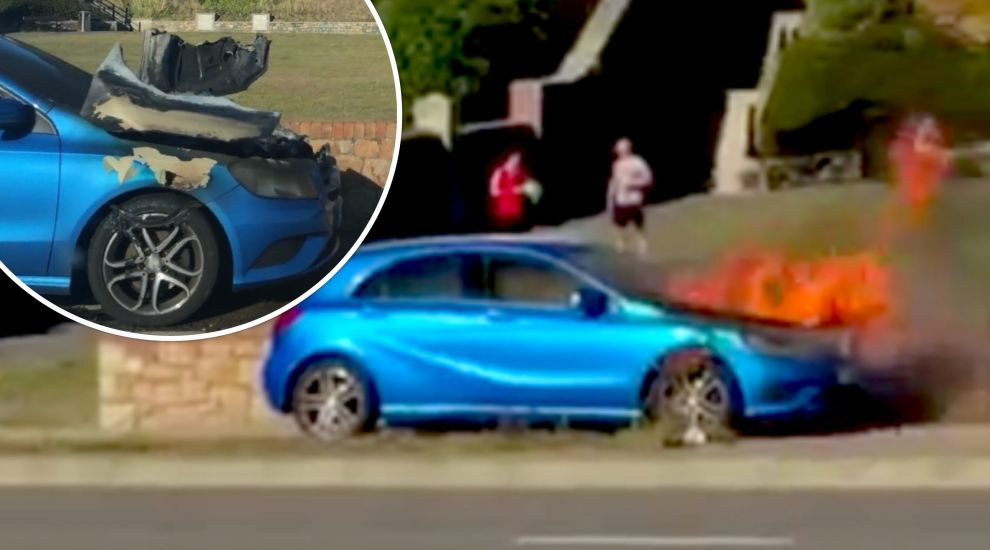 WATCH: Hot wheels! Car catches fire on Avenue