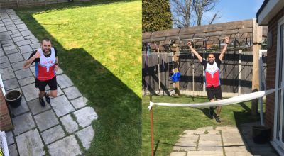 'I've trodden down all the grass' – Man runs marathon in garden during lockdown